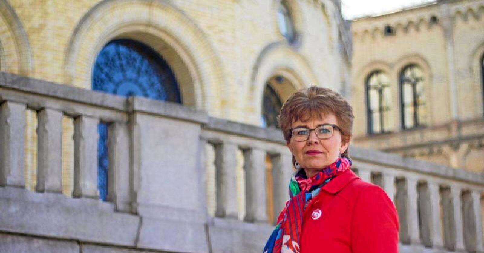 Kathrine Kleveland, leder i Nei til EU. Foto: Nei til EU