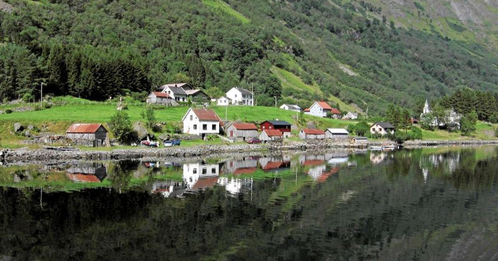 Lokalsamfunn: Det bor folk i hundrevis av lokalsamfunn over hele landet. Foto: Wikimedia Commons/NTB scanpix