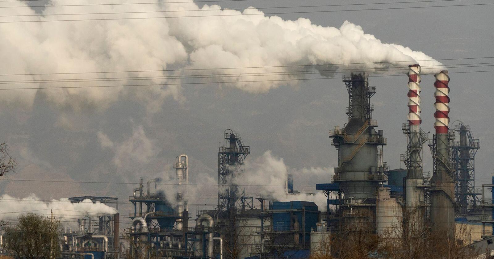 Kina slipper ut mer drivhusgasser enn alle i-land til sammen, ifølge den amerikanske tankesmia Rhodium Group. Foto: AP / NTB