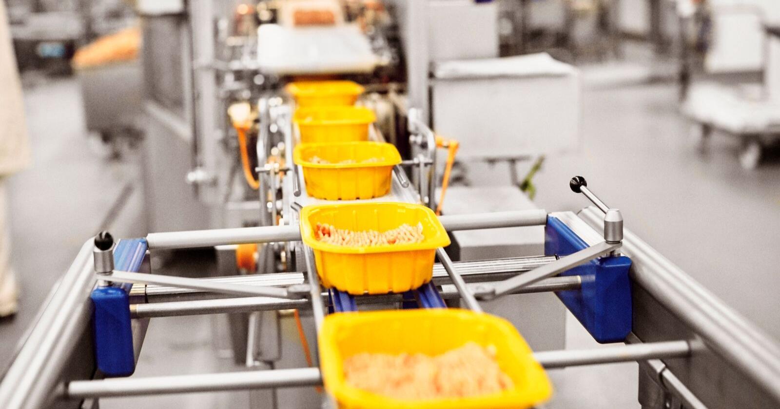 Priors nye kyllingskåler består av 95 prosent resirkulert materiale fra plastflasker. Bildet viser Nortura Hærland. (Foto: Øivind Haug)