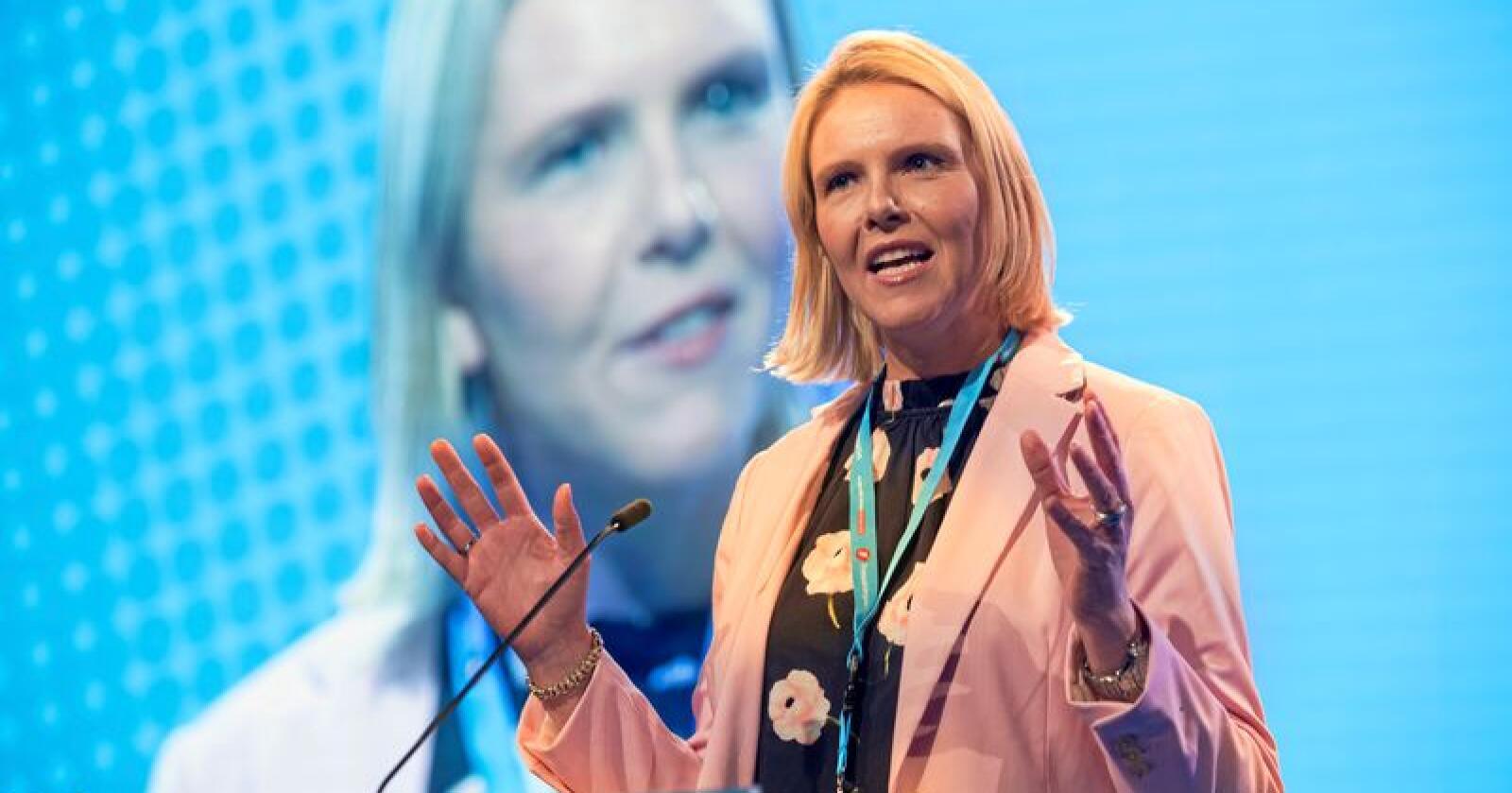 Det kan se ut til at Frp gir fra seg landbruksministeren. På bildet er Sylvi Listhaug, FrPs 1. nestleder. Foto: Terje Bendiksby / NTB scanpix