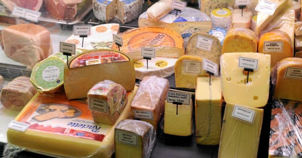 Det blir importert mykje ost til Noreg. Foto: Mariann Tvete