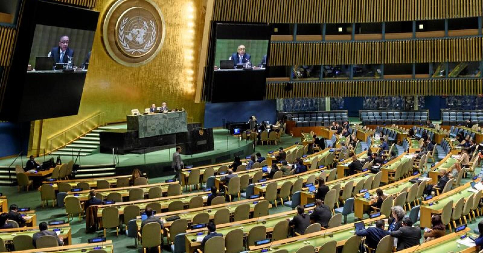 FNs generalforsamling i oktober. Foto: Loey Felipe / FN