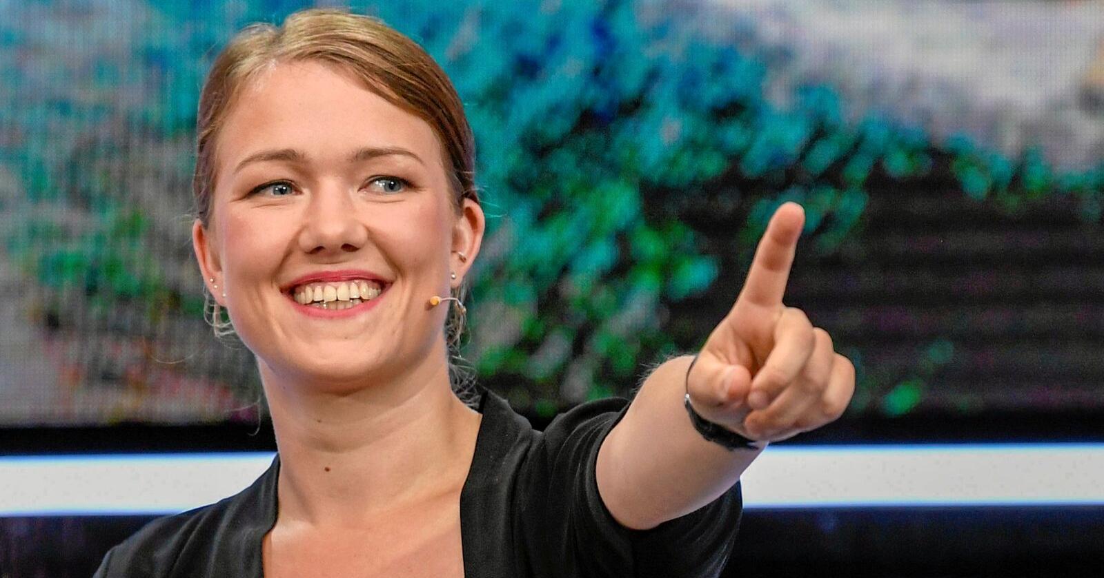 Une Aina Bastholm, nasjonal talsperson og stortingsrepresentant for Miljøpartiet dei Grøne. Foto: Marit Hommedal/NTB scanpix