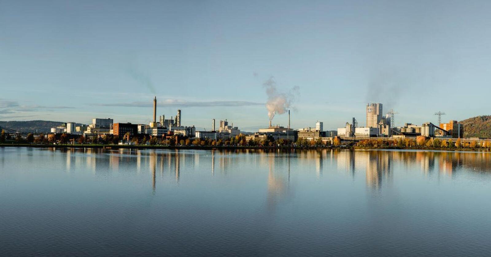 Grønn ammoniakk: Yara her planer om å elektrifisere ammoniakkfabrikken på Herøya. (Foto: Yara)