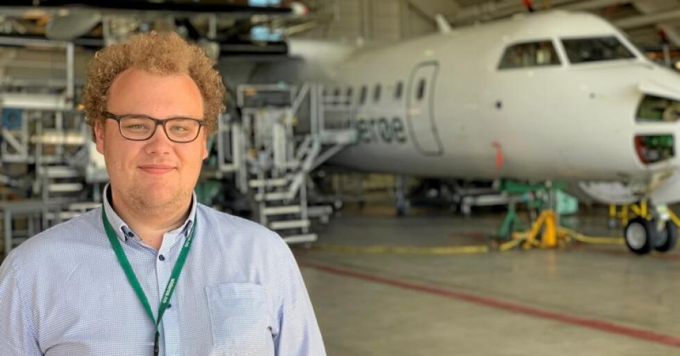 Sander Delp Horn er AUF-leder i Norland. Han mener fly er det viktigste kollektivtilbudet for hans fylke. Foto: Privat