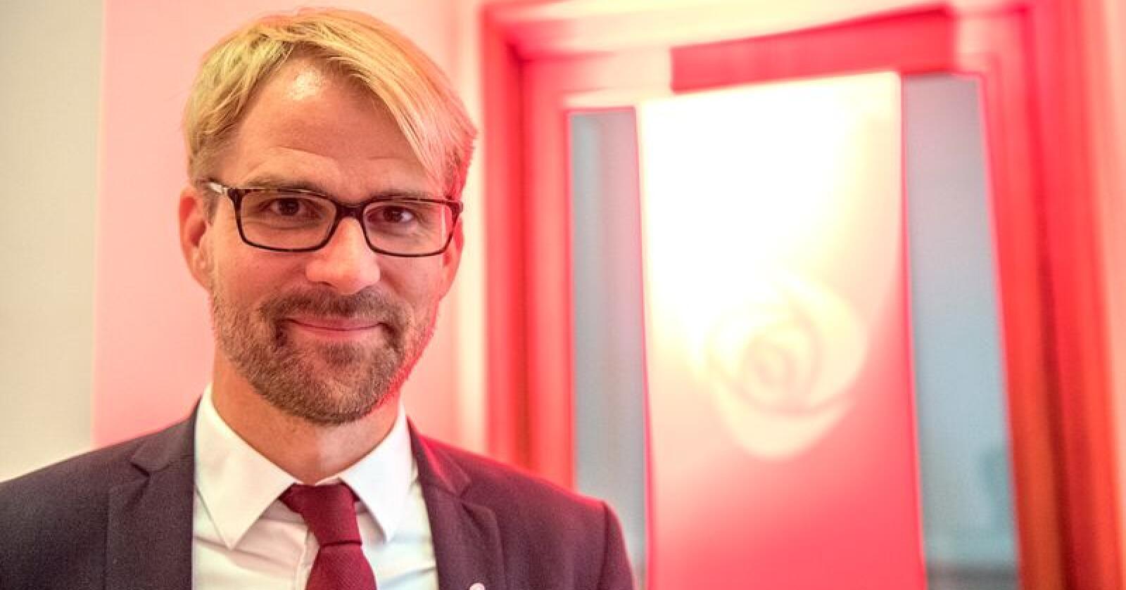 Byrådsleder Roger Valhammer (Ap) i Bergen har blitt enige med MDG, Venstre og KrF om nytt byråd i Bergen. Foto: Marit Hommedal / NTB scanpix