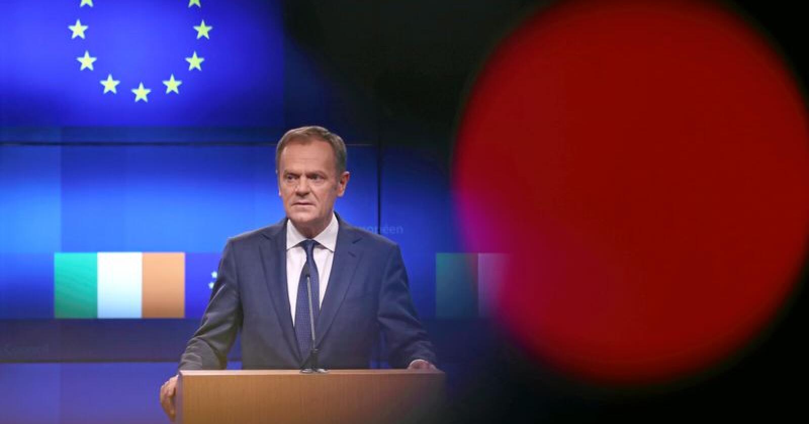 EUs president Donald Tusks uttalelser om britiske brexit-forkjempere vekker oppsikt. Foto: Francisco Seco / AP / NTB scanpix