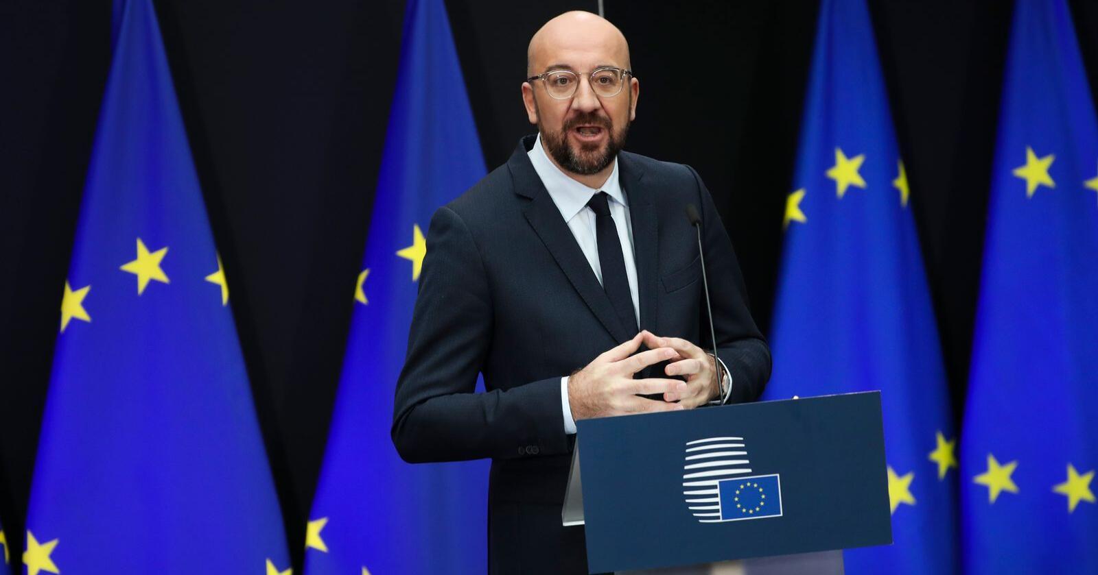 Charles Michel har bare vært EU-president i halvannen uke. Torsdag og fredag leder han sitt første toppmøte. Arkivfoto: Francisco Seco / AP / NTB scanpix