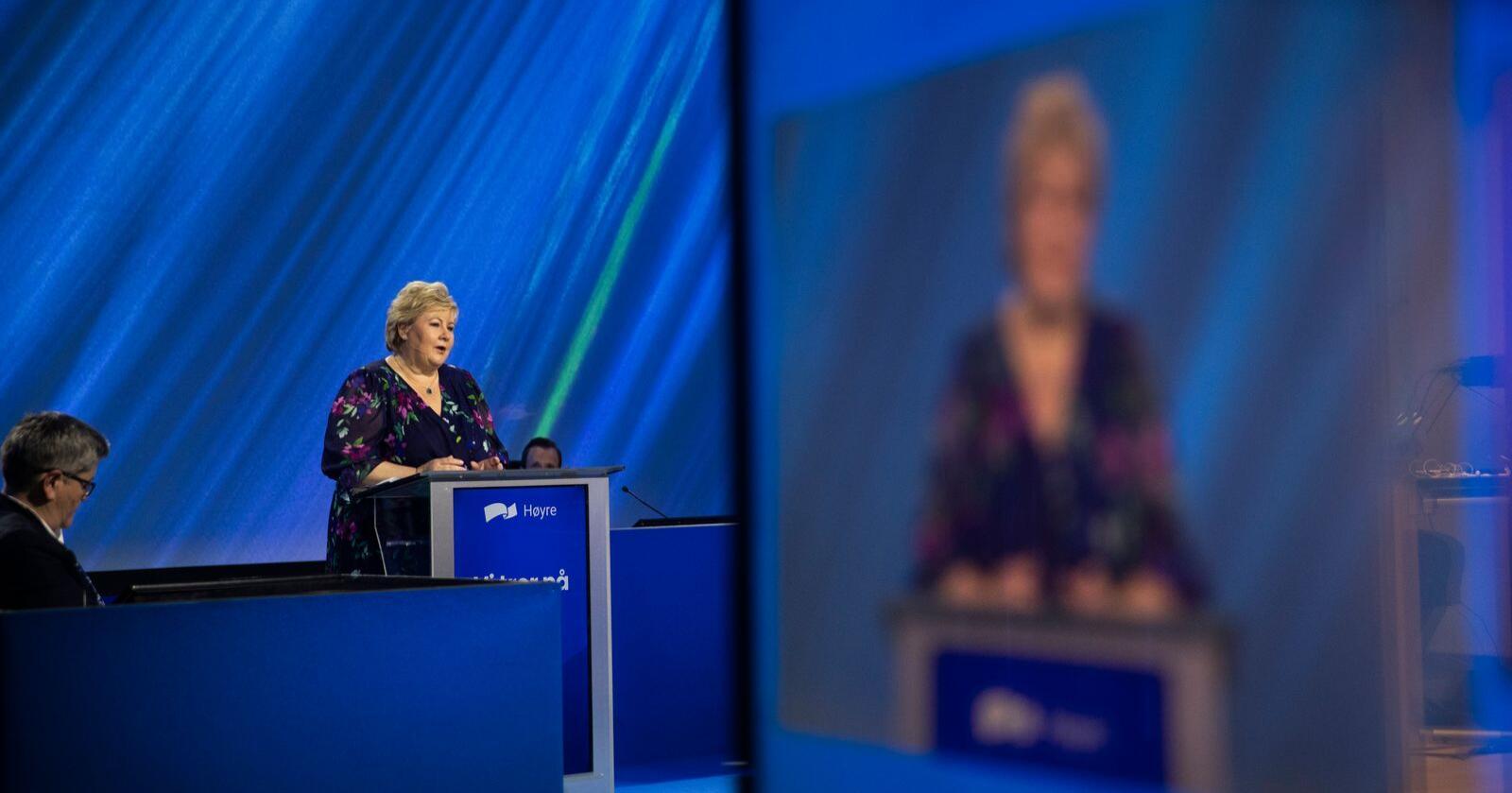 Brumming i baklandet: Kompromisser og administrasjon er ikke nok for partiet til Erna Solberg. Foto: Berit Roald / NTB