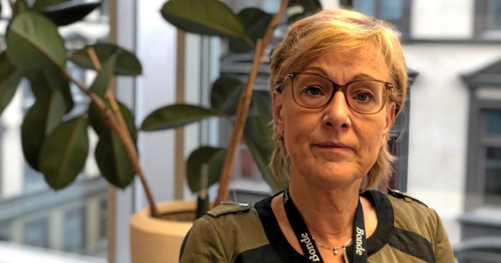 Sigrid Hjørnegård, generalsekretær i Norges Bondelag. Foto: Lars Bilit Hagen
