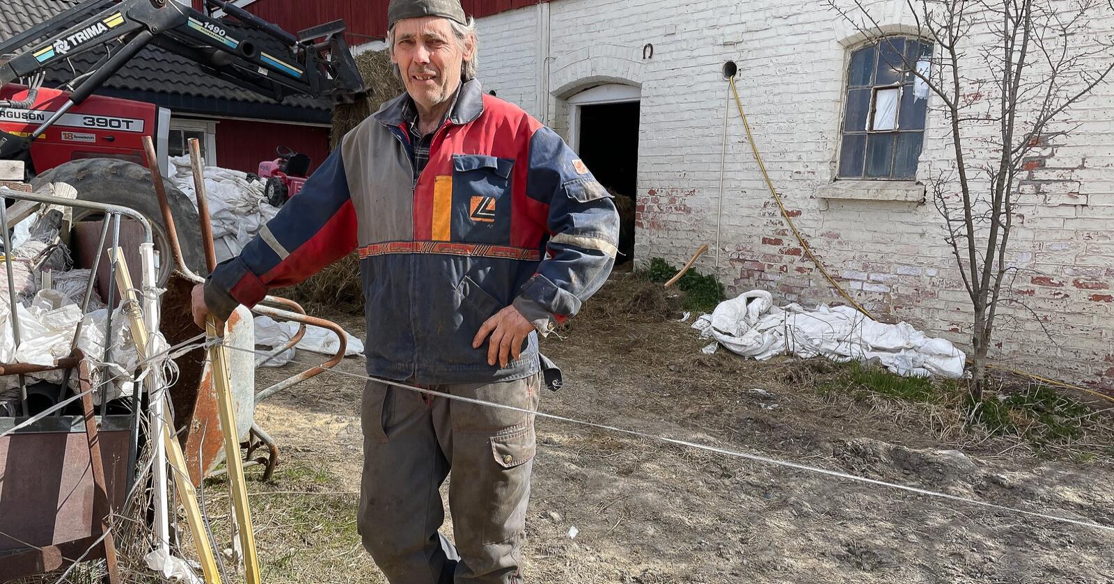 BLE TILTALT: Terje Nøstvedt (63) ble tiltalt for å ha forsømt syke dyr, selv når de ikke var hans egne. Foto: Anette Hammer/Smaalenenes avis