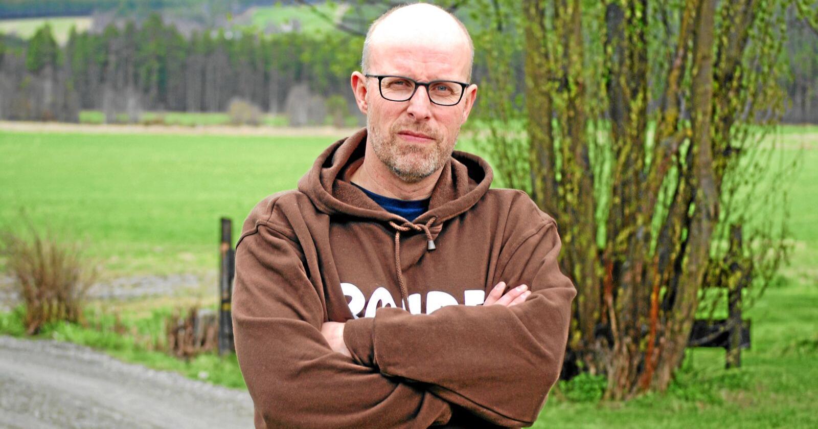 Bondelagets Erling Aas-Eng er fornøyd med at regjeringen ikke får gjennom sitt forslag. Foto: Guro Breck
