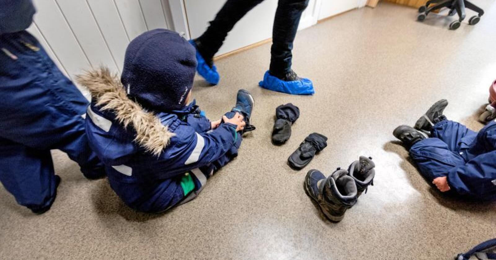 Barnehager: Private barnehager har skapt nye arbeidsplasser, skriver Anne Lindboe. Foto: Gorm Kallestad / NTB scanpix