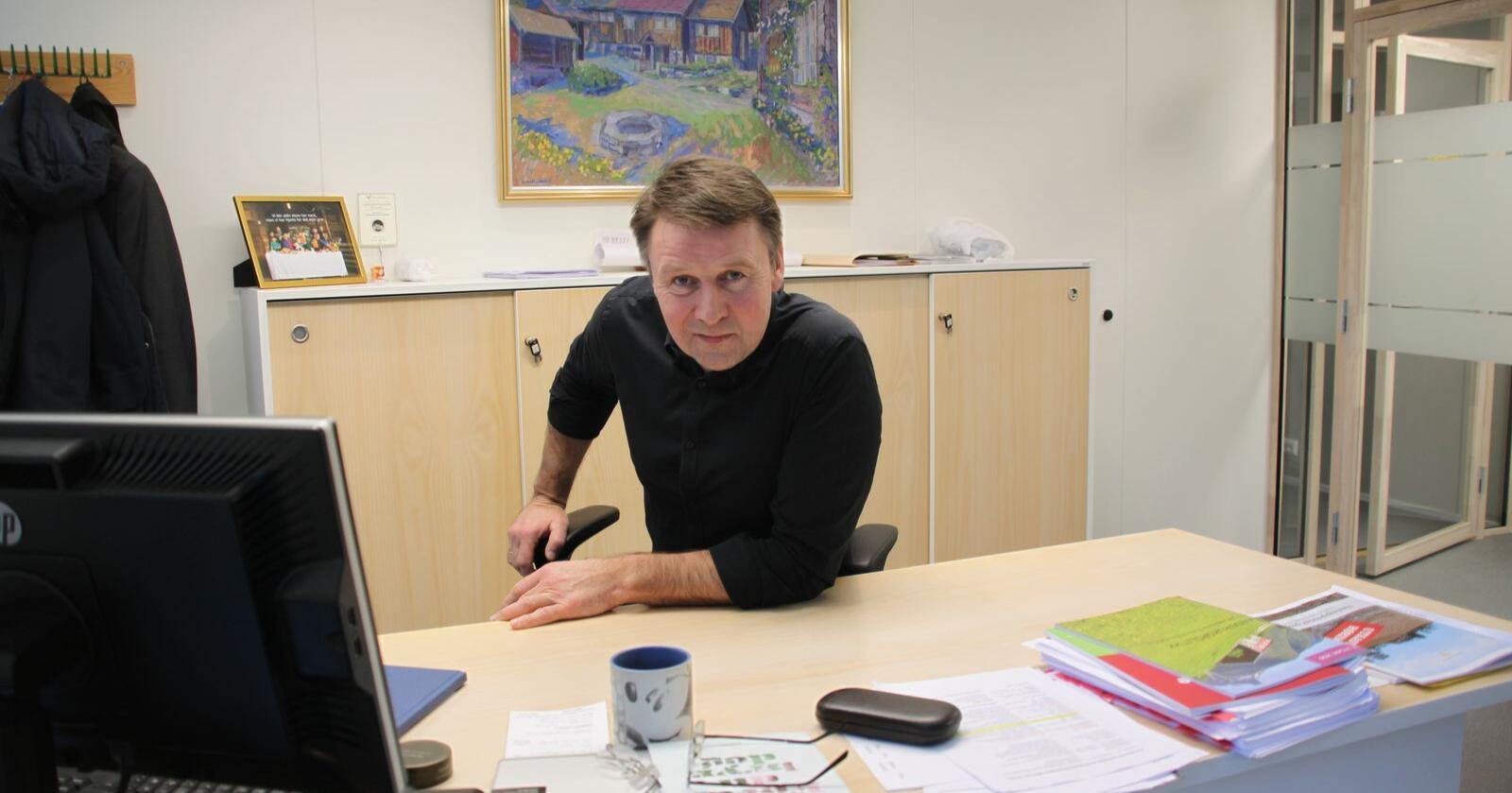 Lars Petter Bartnes har gitt valkomiteen i Norges Bondelag beskjed om at han ikkje er kandidat til attval som leiar. Foto: Janne Grete Aspen