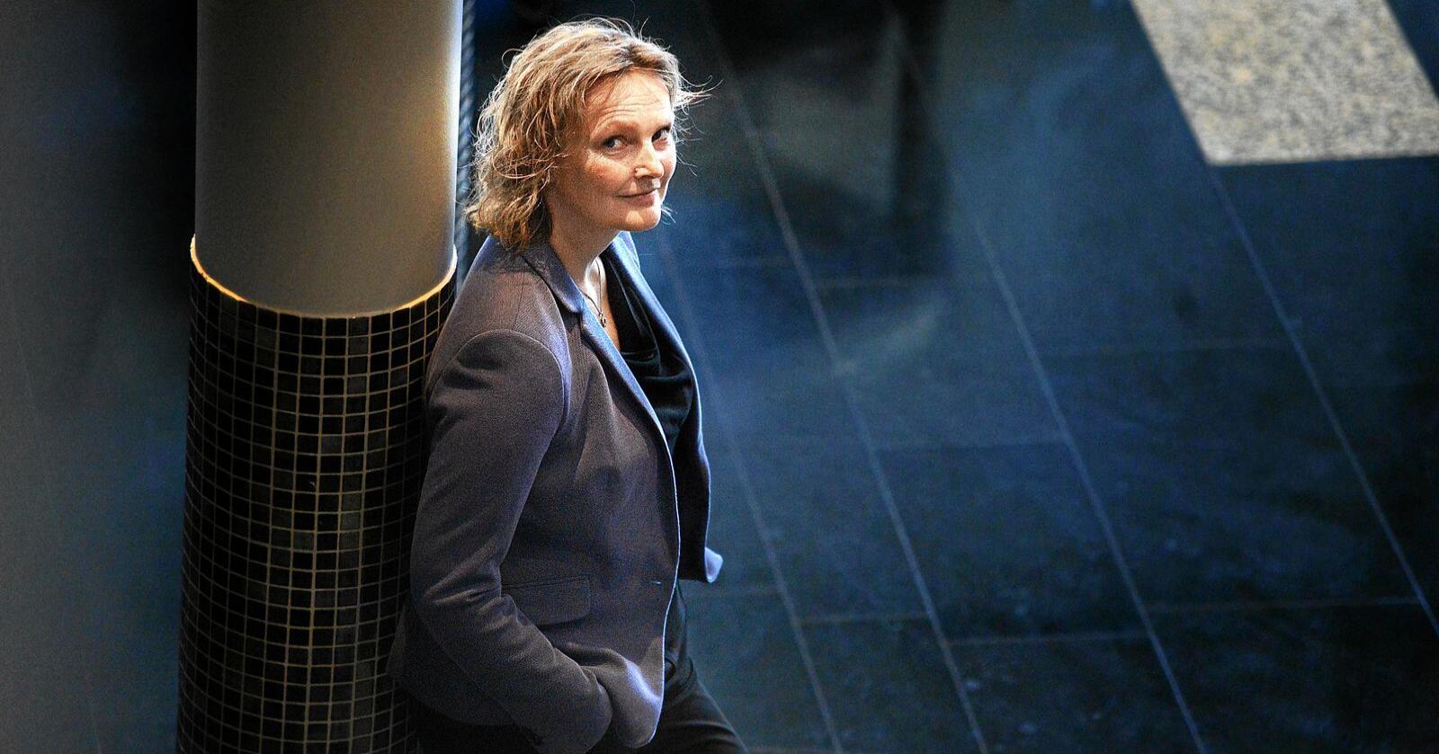 Styreleder i Nortura, Trine Hasvang Vaag under årsmøtet til Nortura på Lillestrøm.