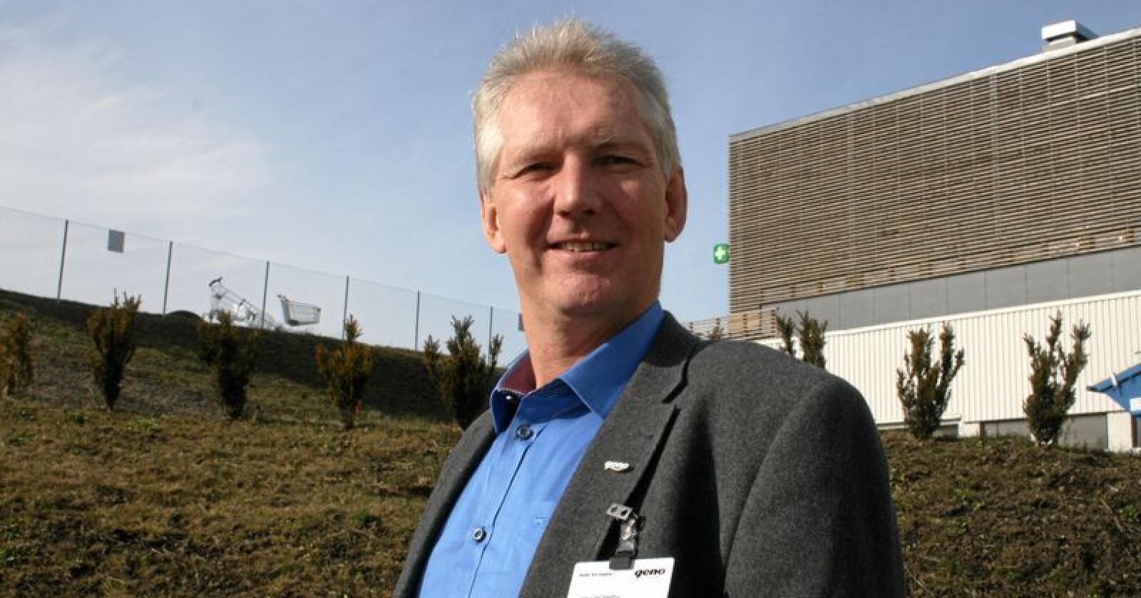 Attvald: Jan Ole Mellby er attvald som styreleiar i bondesamvirket Geno. Foto: Bjarne Bekkeheien Aase