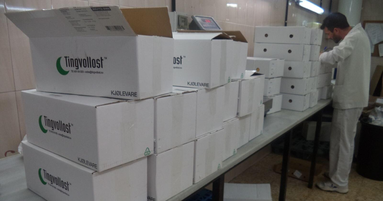 En ansatt hos Ardai er i full gang med å pakke ut Kraftkar i Barcelona. Foto: Pressebilde