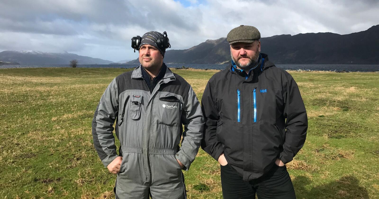 GRÜNDERNE: Jan-Øystein Aksnes og Bjørn Tore Aksnes står bak Agrilogg.