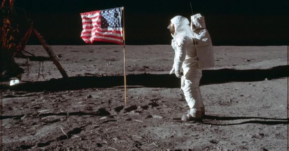 20. juli 1969 klokka 21.17.40 norsk tid landa fartøyet Eagle på månen. Foto: Neil Armstrong / NASA via AP / NTB scanpix