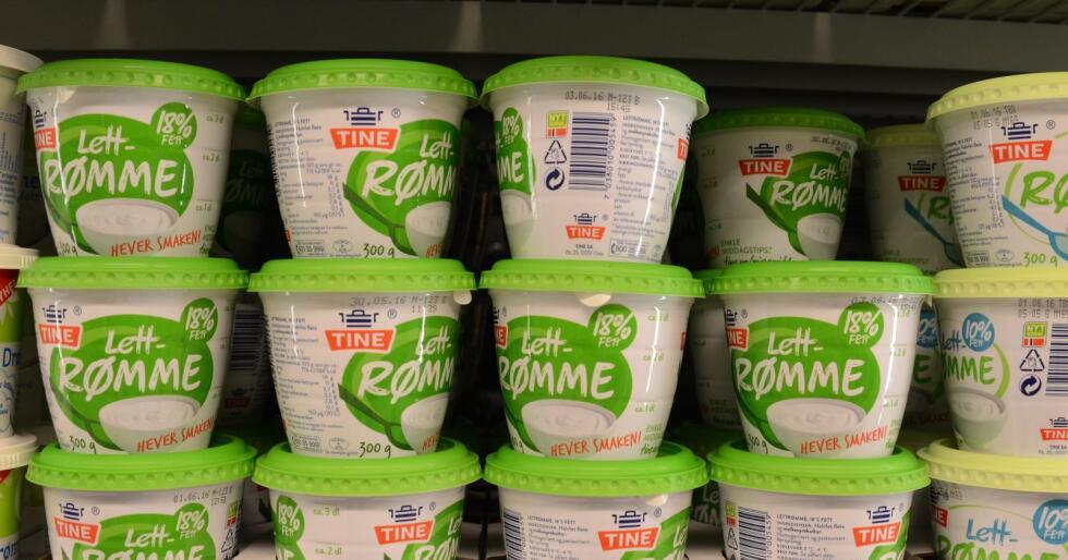 Tynnere plast gir mindre forbruk av emballasje. Bildet er tatt på Rema, i forbindelse med en klimasak om Tine. Foto: Linda Sunde