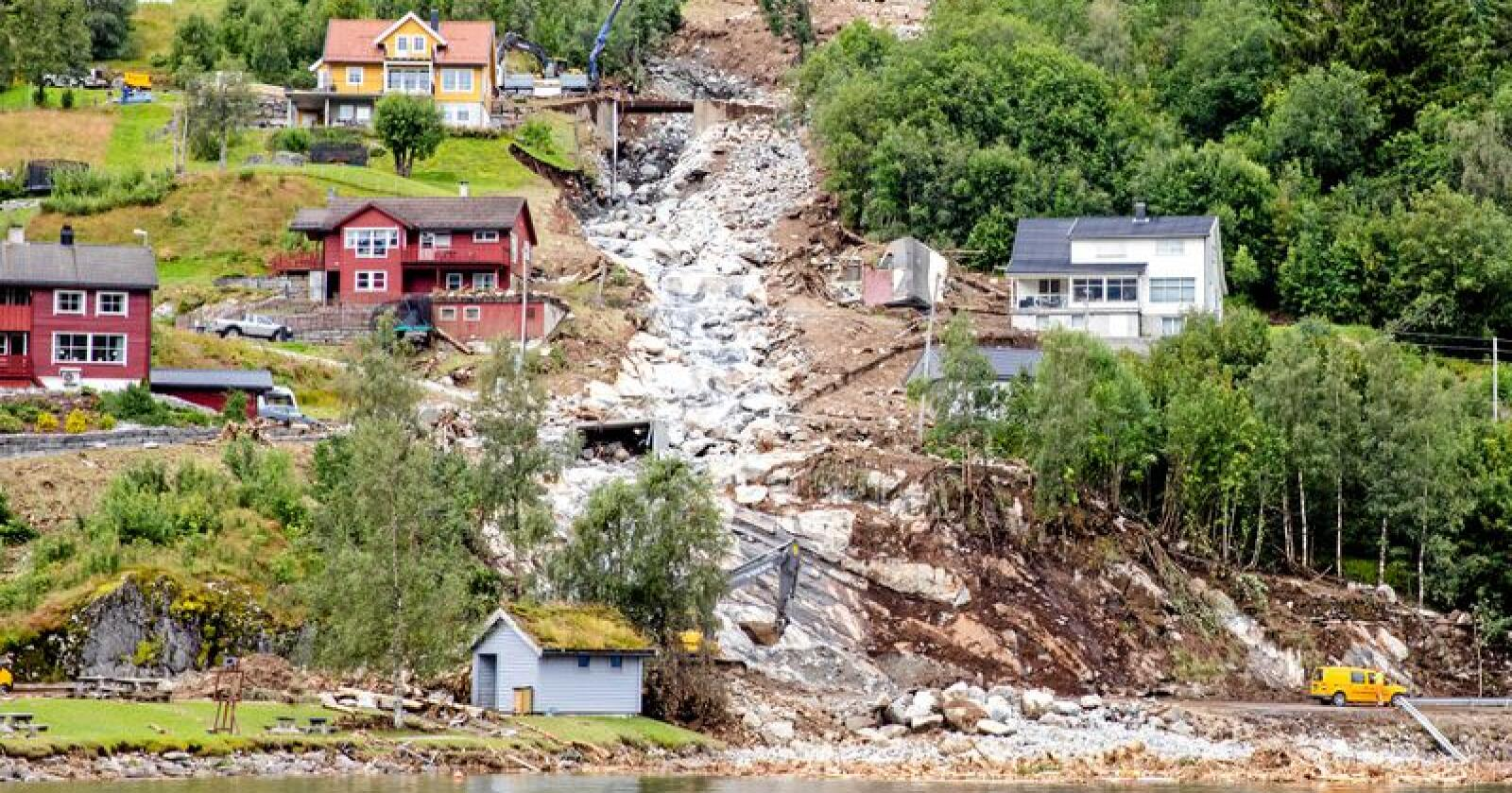 Jordraset i Jølster i Sogn og Fjordane fikk tragiske følger. Foto: Audun Braastad / NTB Scanpix