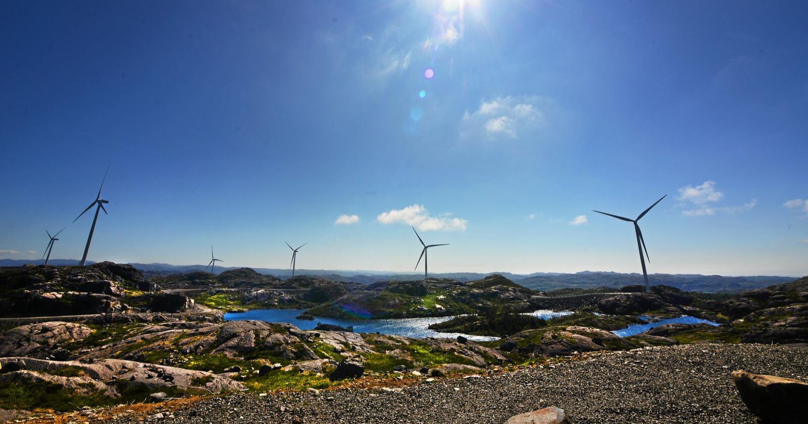 Kraft: Utbygging av vindmøller er kontroversielt mange steder. Foto: Siri Juell Rasmussen