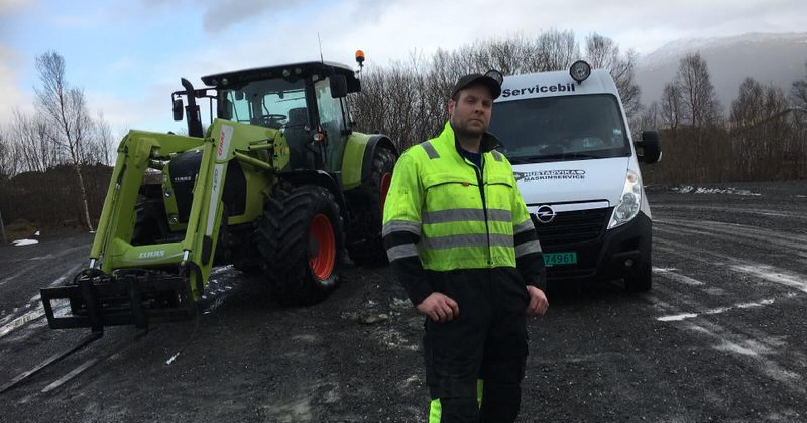 Odd Ingve Ødegård og Hustadvika Maskinservice blir ny servicepartner for Norwegian Agro Machinery i Romsdal og Nordmøre. Foto: Privat