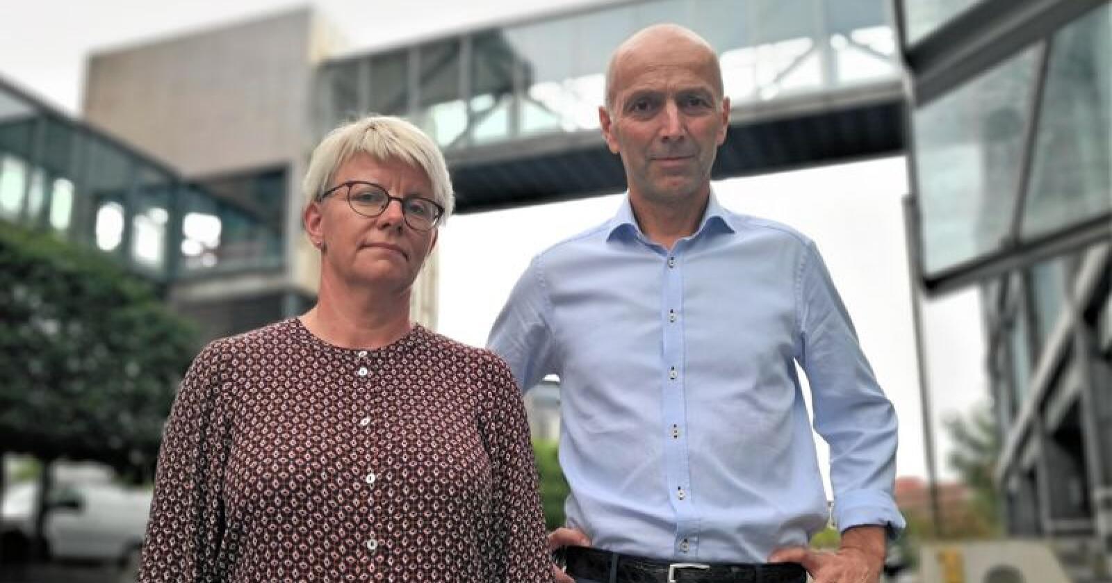 Tines styreleder Marit Haugen og konsernsjef Gunnar Hovland tror mer av overskuddet til samvirket kan gå tilbake til eierne. Foto: Jon-Fredrik Bækgaard Klausen