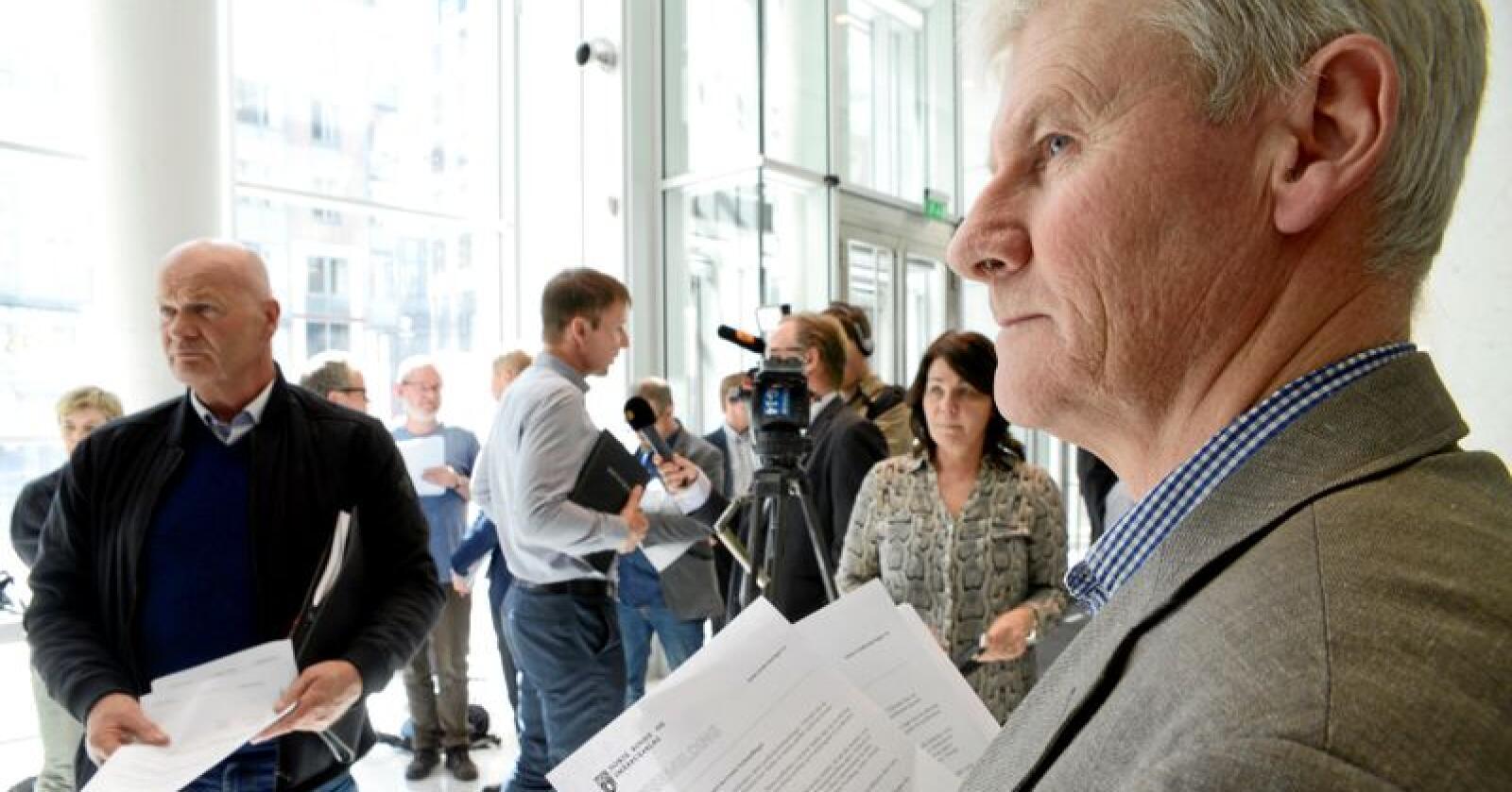 Olaf Godli, generalsekretær i Norsk Bonde og Småbrukarlag tror ikke forbrukerne skjønner konsekvensen av en radikal omlegging av norsk kosthold. Foto: Mariann Tvete