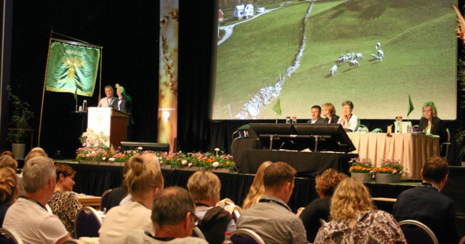 Kvotetiltak: Innstrammingar på mjølkekvotar skapte debatt på Bondetinget. Styret fekk med seg ei rekke nye forslag til restriksjonar som skal vurderast. Foto: Bjarne Bekkeheien Aase