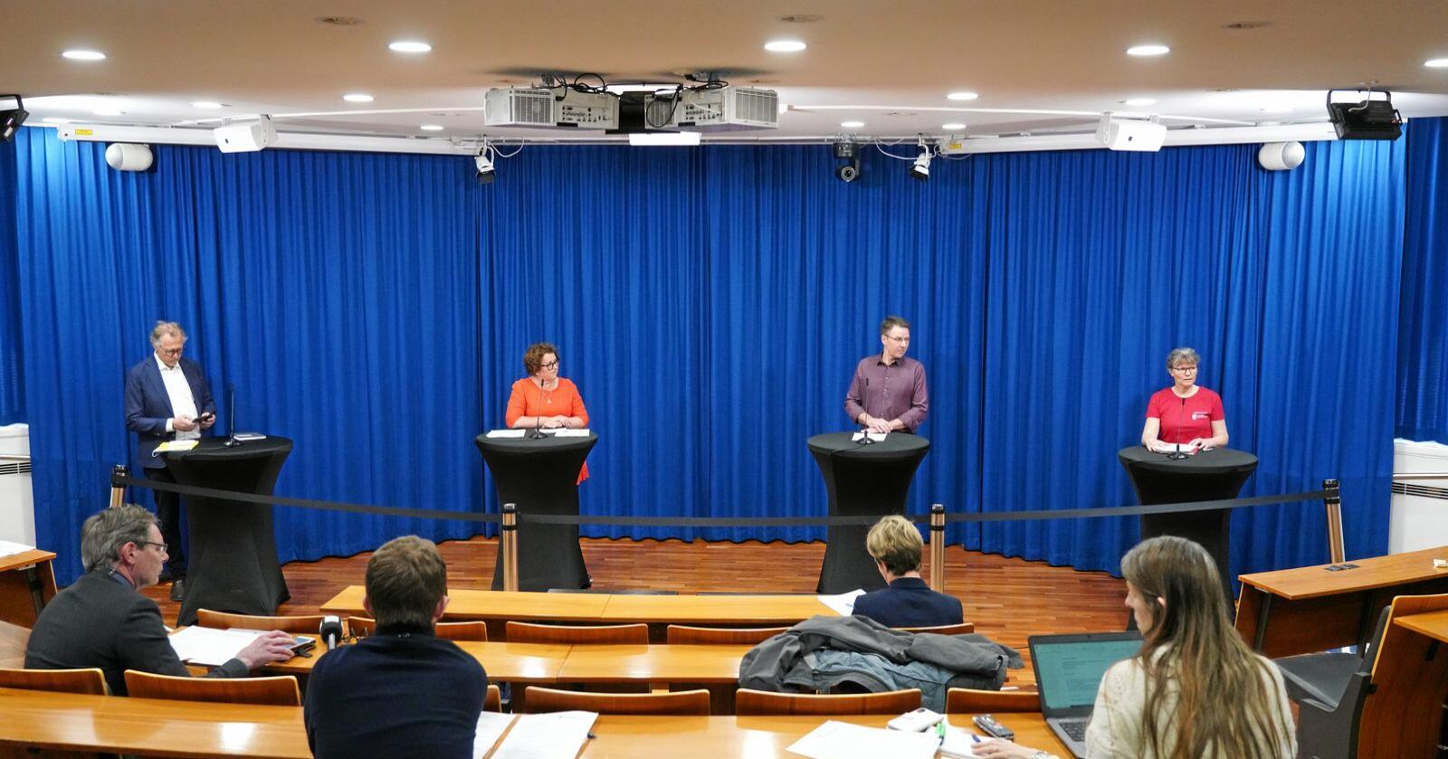 Fjorårets forhandlinger ble ikke som vanlig på grunn av koronapandemien. Foto: Ole Berg-Rusten / NTB scanpix