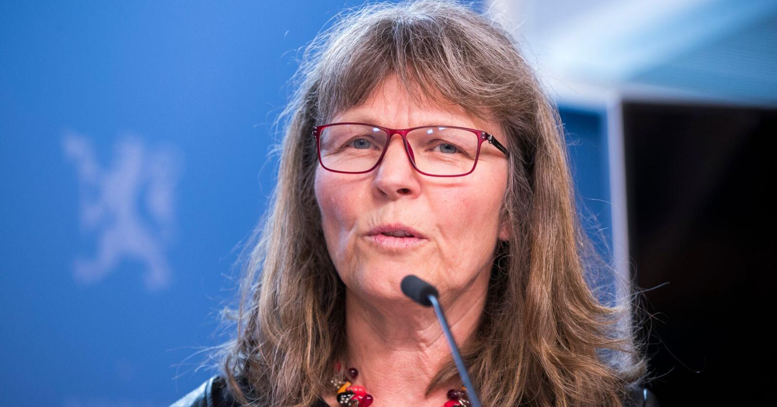 Norsk Bonde- og Småbrukarlag lanserer flere forslag til å styrke selvforsyningsgraden og ber om bedre rammevilkår for matproduksjonen. Her lagets leder Kjersti Hoff. Foto: Terje Pedersen / NTB scanpix
