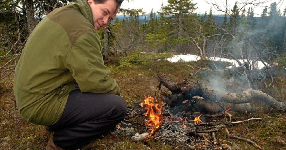 Ulv: Lars-Erik Lie, leder i Bygdefolk for rovdyr. Foto: Arve Herman Tangen