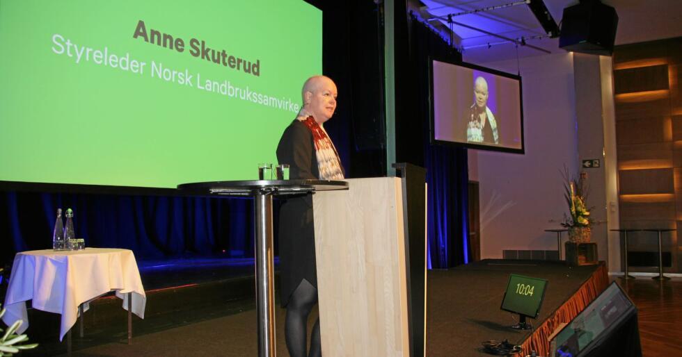 Styreleder i Norsk Landbrukssamvirke Anne Skuterud åpna Mat og Landbruk 2020. Foto: Andrea Sofie Aasvang
