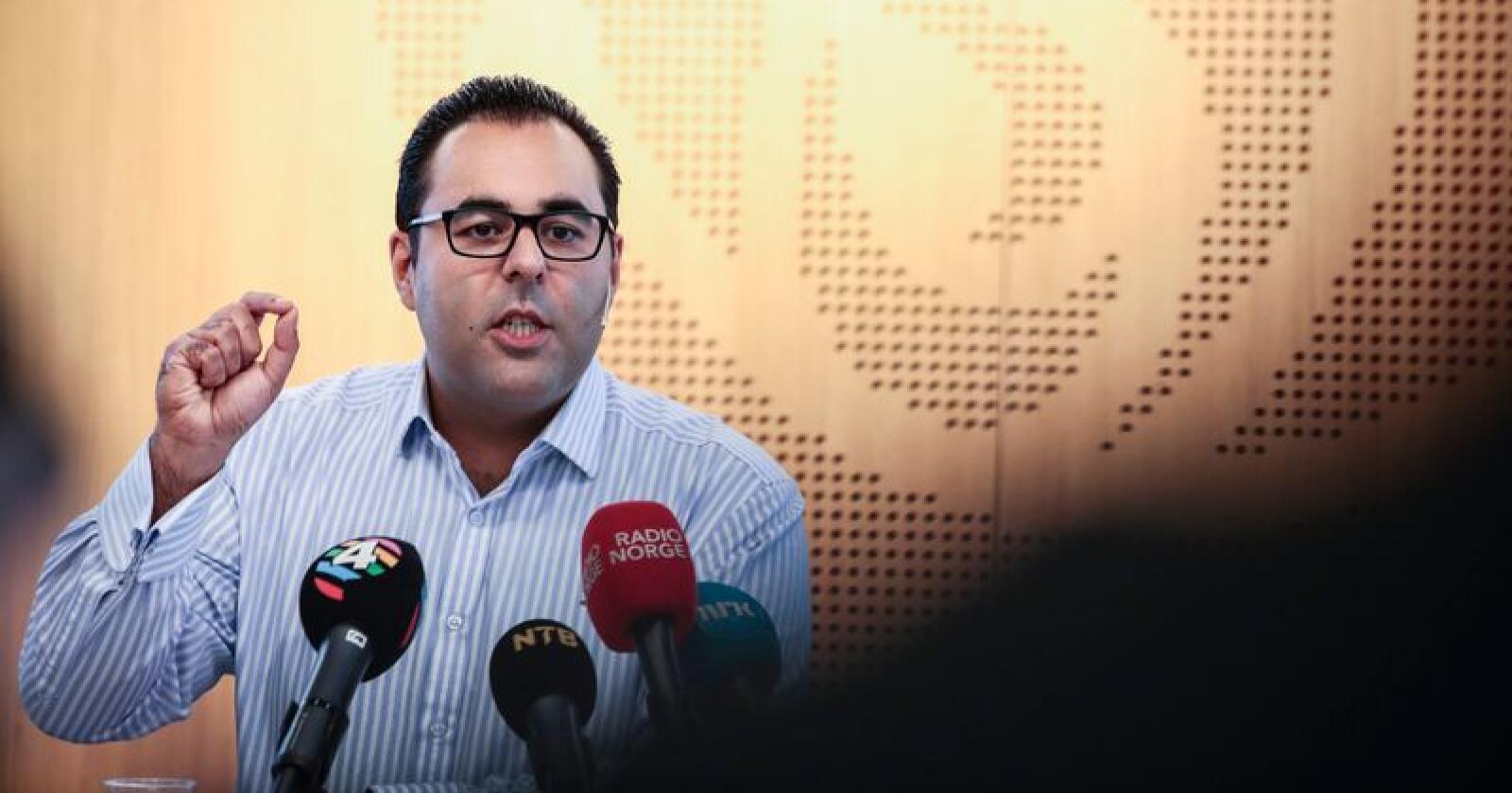 Masud Gharahkhani har vært leder av Arbeiderpartiets migrasjonsutvalg som onsdag la fram sine første forslag til hvordan partiets innvandringspolitikk bør se ut. Foto: Lise Åserud / NTB scanpix