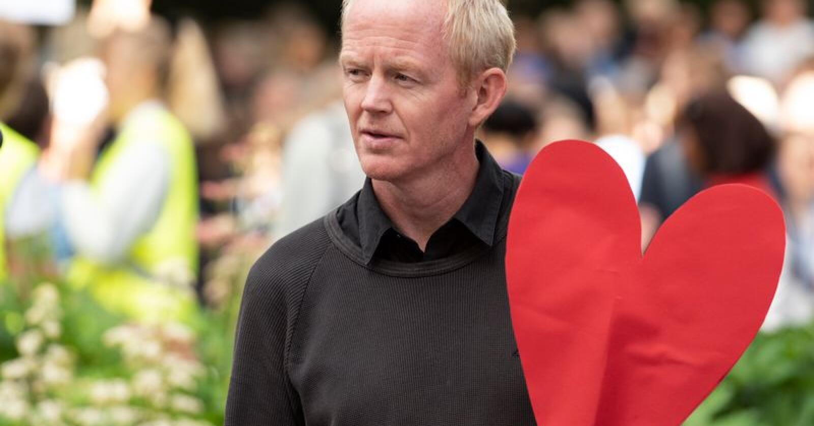 SVs klimapolitiker Lars Haltbrekken savner mer konkret politikk fra Senterpartiet. Foto: Ned Alley / NTB scanpix