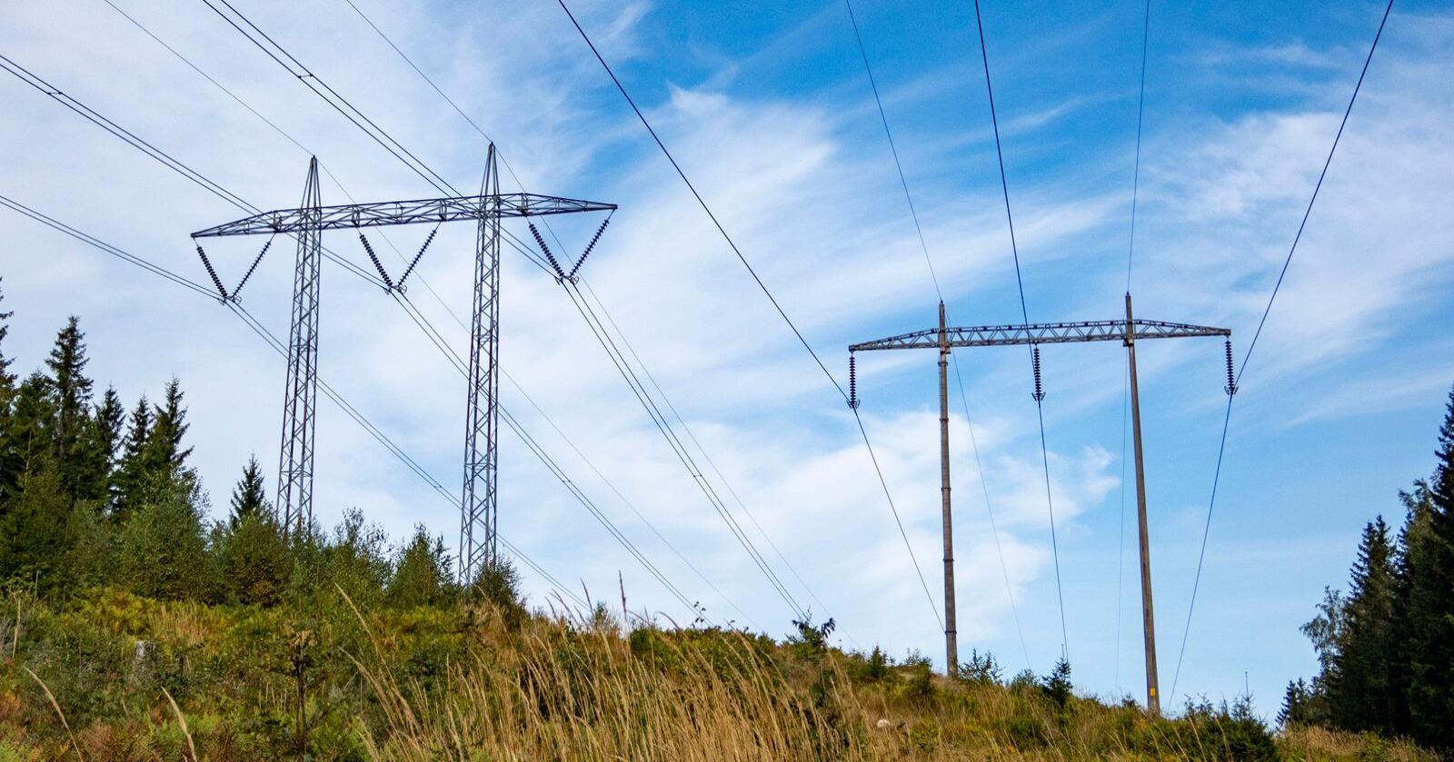 Strømprisene er hyppig omtalt på Fattighuset. Bildet viser en høyspentledning i Nittedal. Foto: Paul Kleiven / NTB