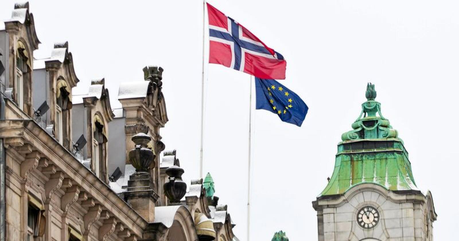 Norge og EU: Norsk selvråderett  forvitrer eller forsterkes i takt med utviklingen i vårt nærmeste fellesskap, det europeiske. Foto: Vegard Grøtt/NTB scanpix