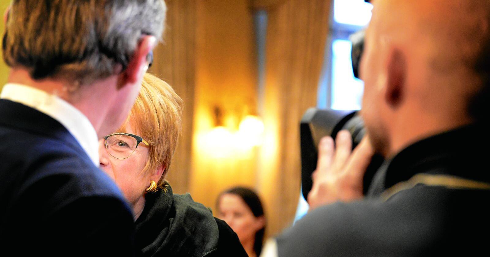 Trine Skei Grandes lederskap slår sprekker. Men hun kan bli sittende. Foto: Siri Juell Rasmussen