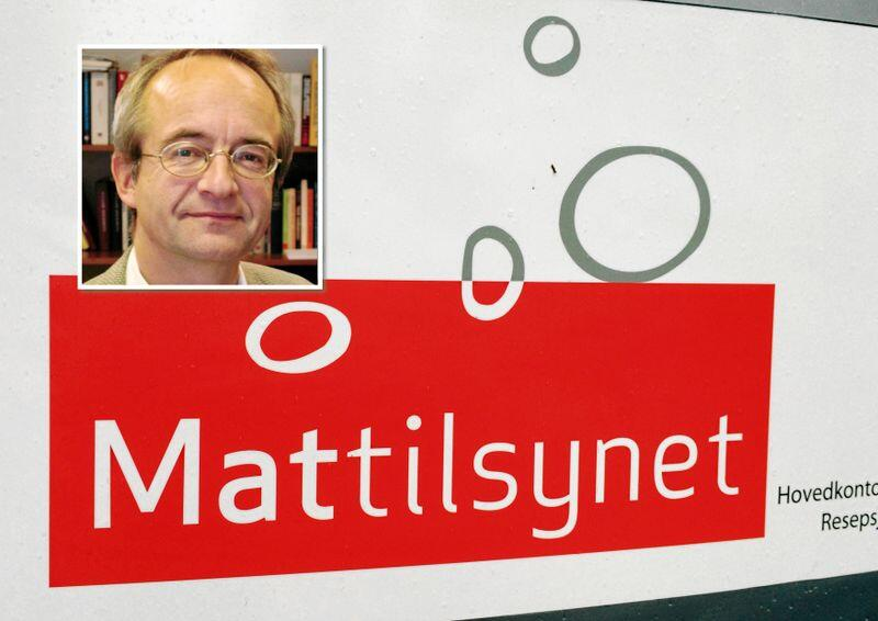 Advokat Brynjar Mørkved meiner organiseringa av Mattilsynet bør vurderast. Montasje. Foto: Jon Rike / Svein Egil Hatlevik