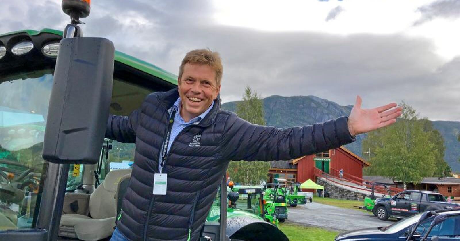 Geir Helge Espedalen, daglig leder i Dyrsku'n, varslet tidligere i år at de regnet med å gå i underskudd med 20 millioner. Foto: Line Omland Eilevstjønn