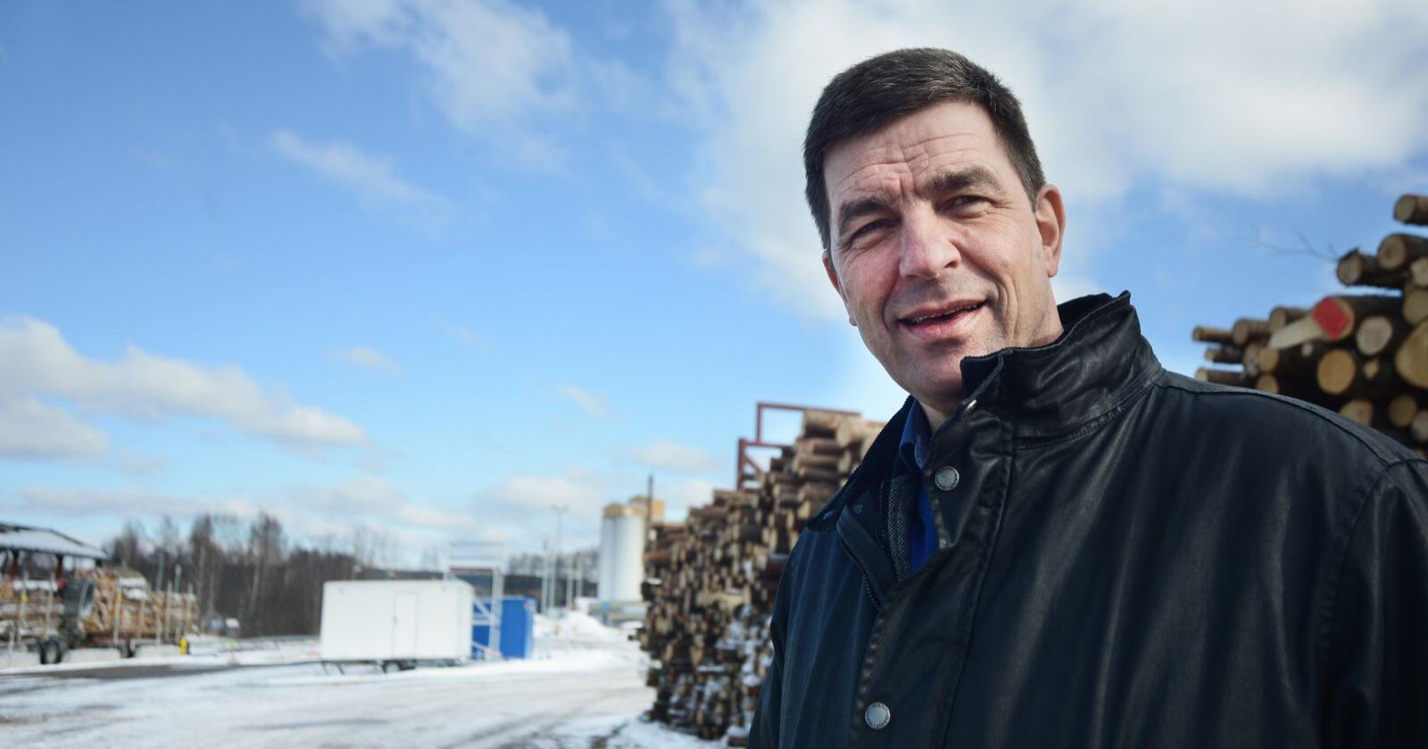 Gunnar Gundersen er leder i Naturbruksalliansen og næringspolitisk sjef i Glommen Mjøsen Skog. Foto: Siri Juell Rasmussen