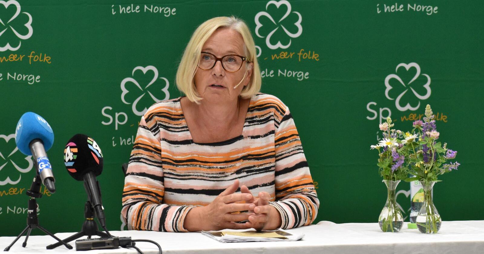 Senterpartiets Marit Arnstad vil ha lavere selskapsskatt i distriktene enn i byene. Foto: Henrik Heldahl