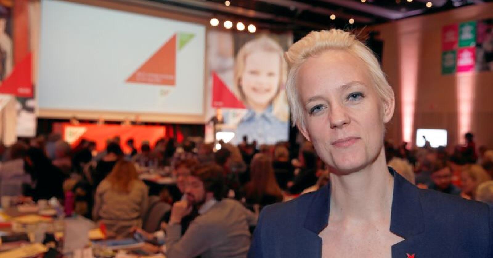 Fylkesleder Ingrid Fiskaa i Rogaland SV mener forslaget til ny SV-ledelse er for Oslo-dominert. Foto: Terje Pedersen / NTB scanpix