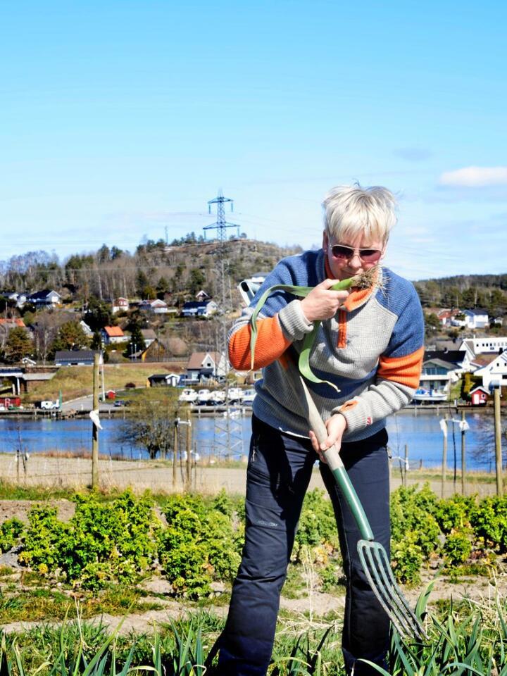 Interessen for økologisk mat gjorde at Mette Tungen ville bli andelsbonde. Alle foto: Mariann Tvete