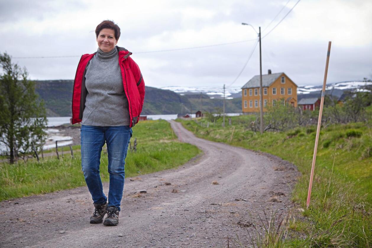 Finnmark: Tidligere nestleder i Ap, leder i Tana Ap, Helga Pedersen, kjemper sammen med mange andre finnmarkinger for å bevare Finnmark som eget fylke.    Foto: Iris Egilsdatter.