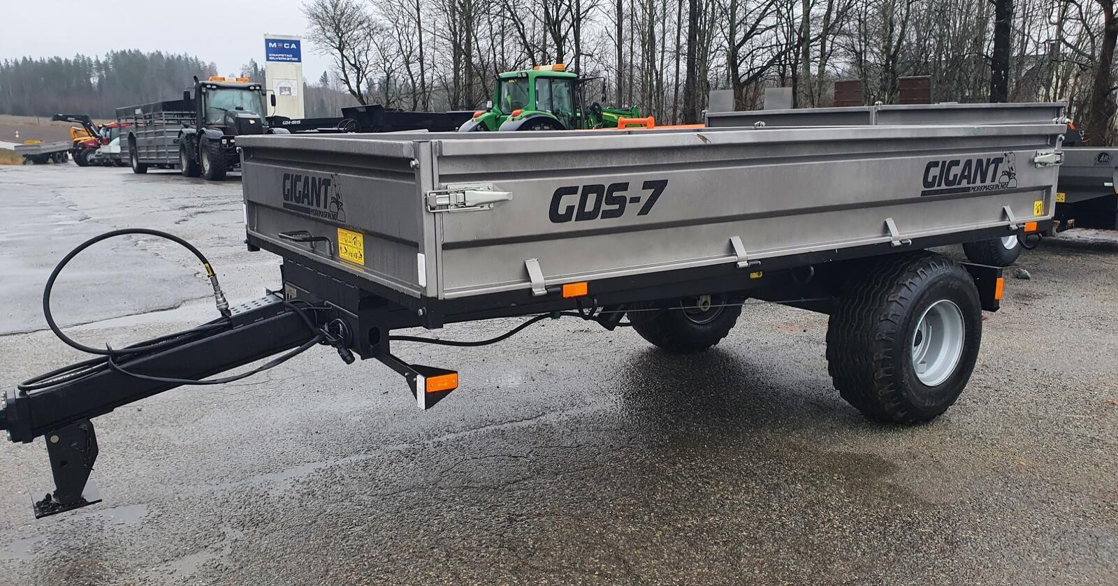Mellomklasse: Gigant GDS 7 er en henger beregnet på enklere transportbehov. Hengeren har likevel brems, og er godkjent for  40km/h kjørehastighet