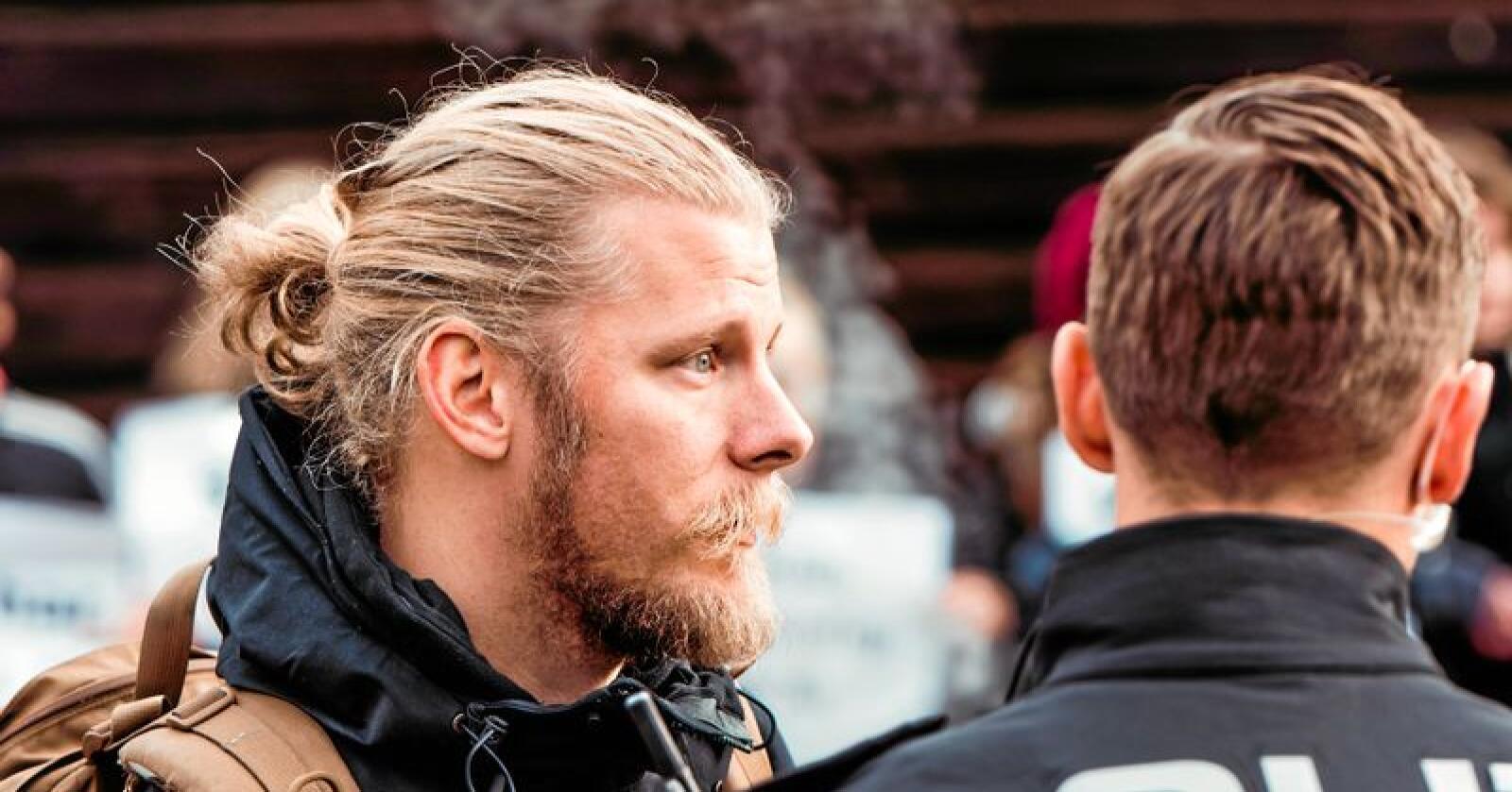 Samuel Rostøl er klar for en ukeslang sultestreik foran Stortinget. Foto: Eirik Skeide