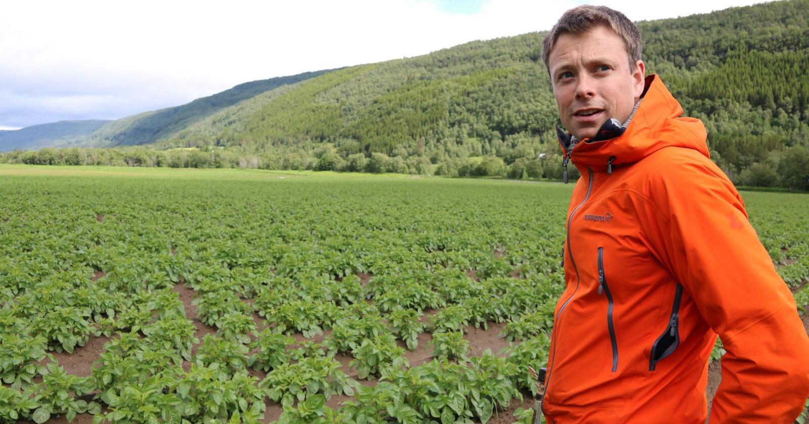 Stig Rune Stai gikk av med seieren i Potetkampen 2019